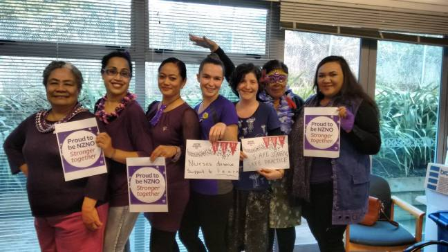 Nurses at the Porirua Union & Community Health Service supporting DHB Sector members.