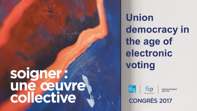Union Democracy and Electronic Vote
